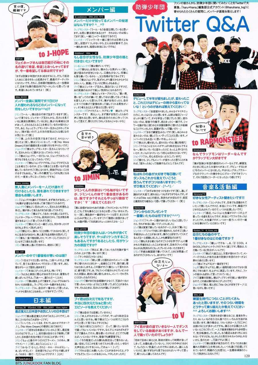 Picture Magazine Scans Haru Hana Vol 22 February Edition Bts 4th Muster Bts Magazine Cover