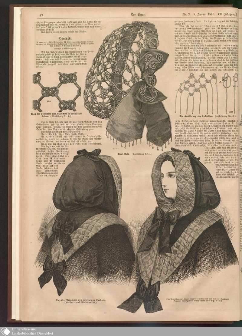 20 12 Nr 2 Der Bazar Seite Digitale Sammlungen Digitale Samml Fashion Illustration Vintage Vintage Dress Patterns 19th Century Fashion Victorian