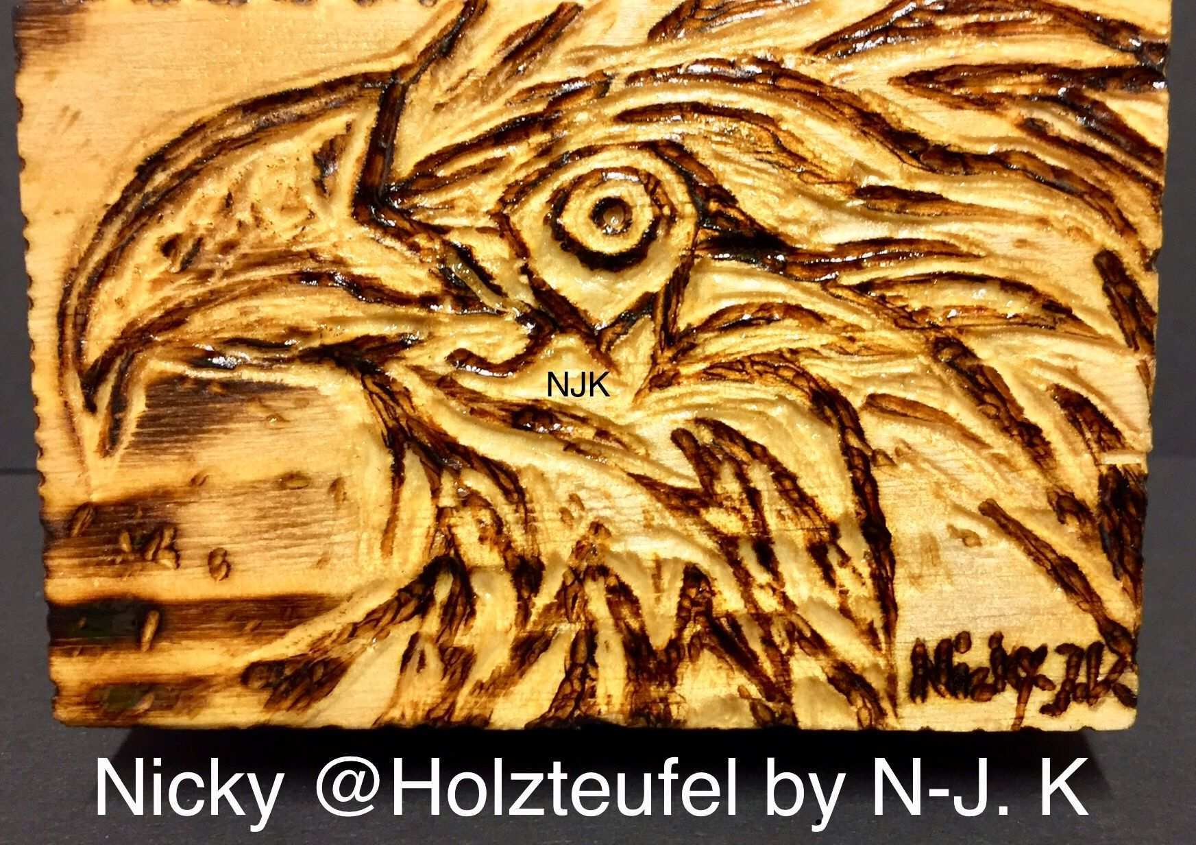 Dose Box Kiste Adler Eagle Brandmalerei Nicky Holzteufel By N J K Zeichnung Bild Holz Handwerk 3d Brandmalerei Holzschnitzkunst Zeichnung