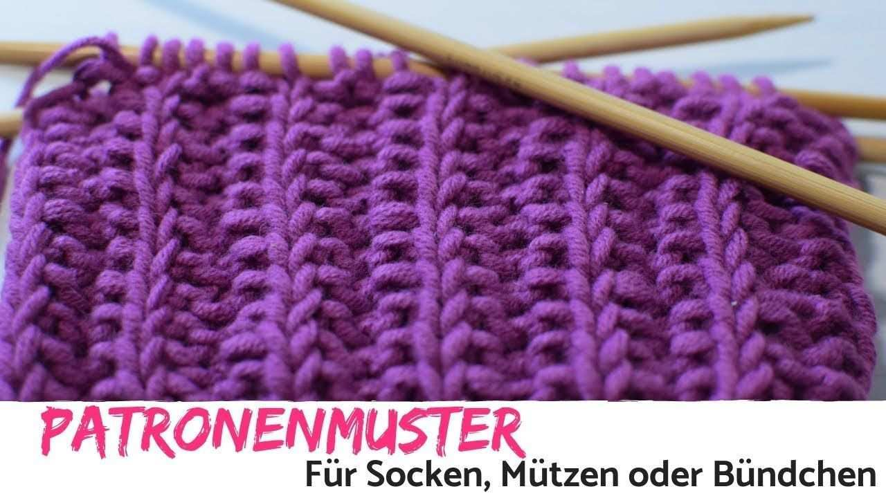 Patronenmuster Oder Falsches Patentmuster In Runden Stricken Sockenmus Sockenmuster Socken Stricken Muster Patentmuster Stricken Anleitung