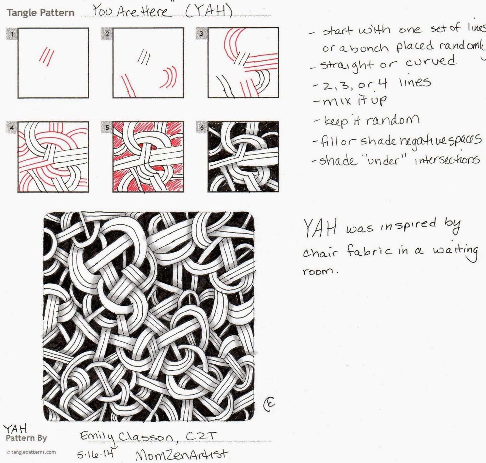 Momzenartist My New Pattern Yah Zentangle Muster Verflechtung Muster Zentangle Zeichnungen
