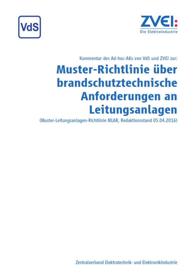 Muster Richtlinie Uber Brandschutztechnische Anforderungen An Leitungsanlagen Zvei Org