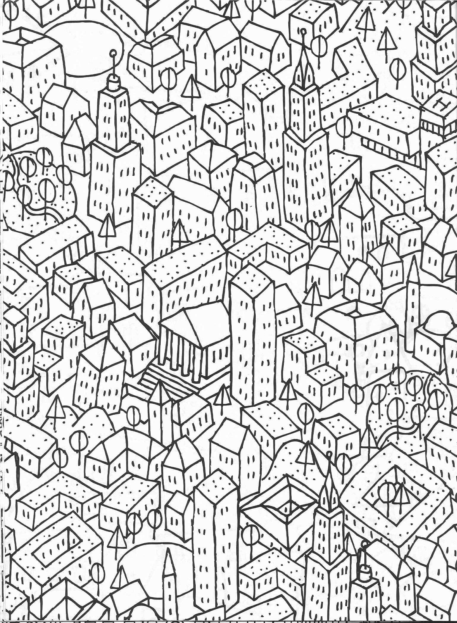 Stadt Skyline Malvorlagen Elegantes Stadtbild Malvorlage Vapha Kaptanband Muster Malerei Mandalas Zum Ausmalen Malvorlagen