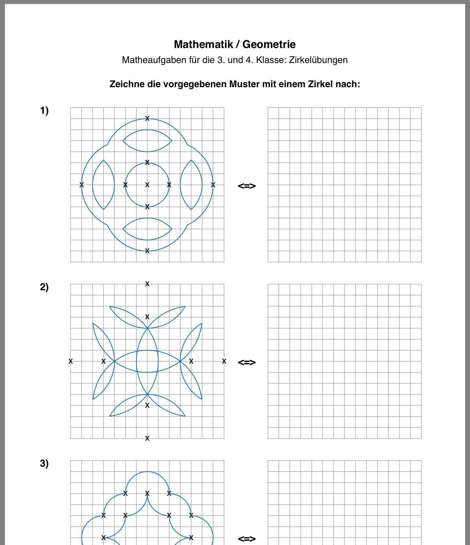 Pin Von Kerstin Scharfenberg Auf Schule Und Lernen Geometrie Zirkel Mathematik
