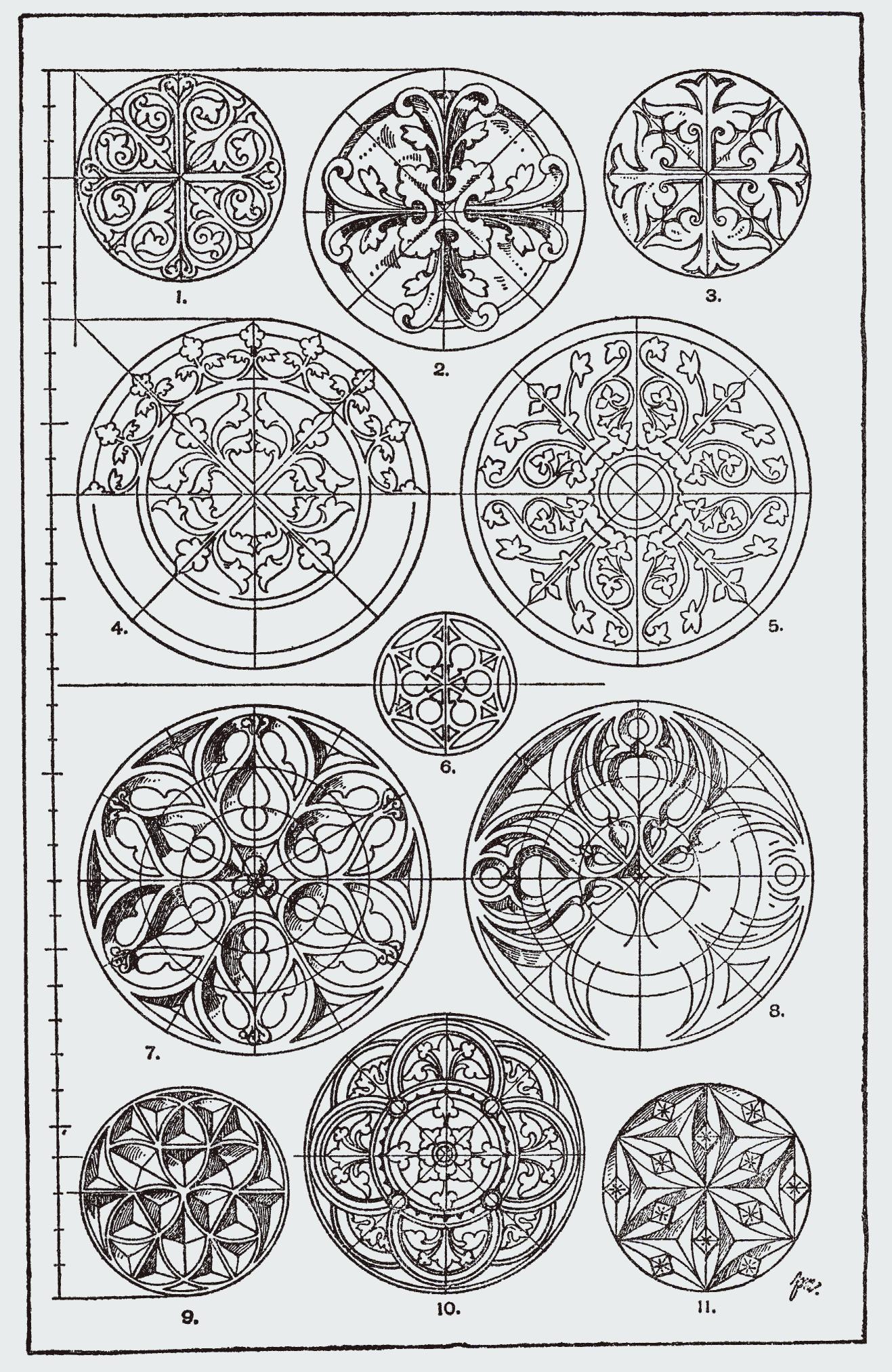 Orna158 Kreis Png 1317 2026 Jugendstil Ornamente Technisches Zeichnen Geometrie