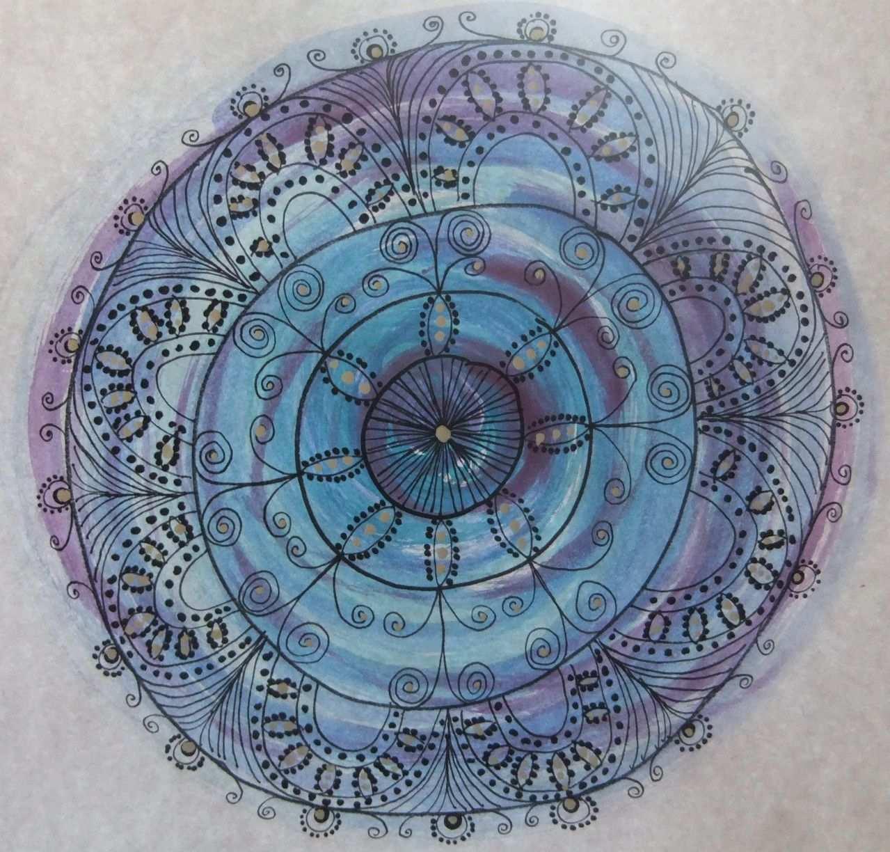 Mandala Malen Mit Wasserfarben Mandala Selber Malen Mandalas Malen Wasserfarben