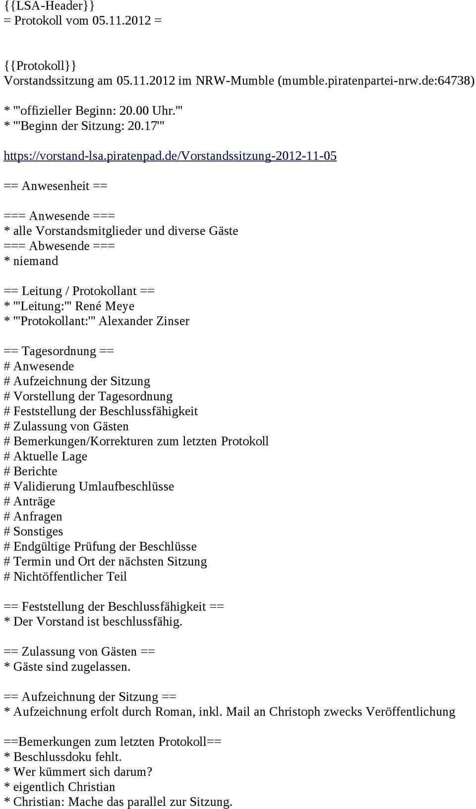 Aufzeichnung Der Sitzung Aufzeichnung Erfolt Durch Roman Inkl Mail An Christoph Zwecks Veroffentlichung Pdf Kostenfreier Download