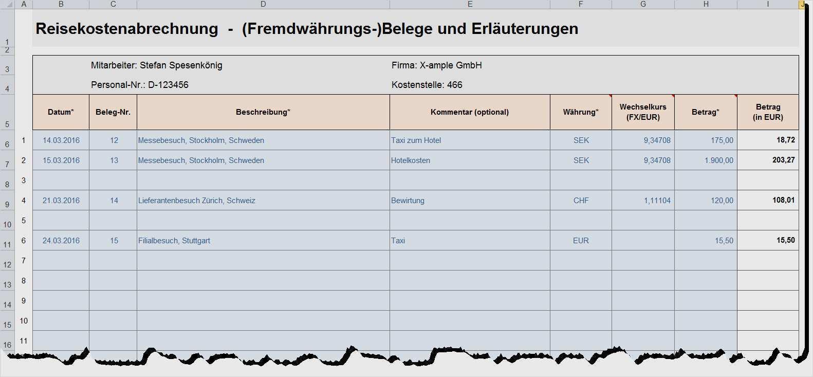Hubsch Reisekostenabrechnung 2017 Vorlage Solche Konnen Anpassen In Microsoft Word Dillyhearts Com