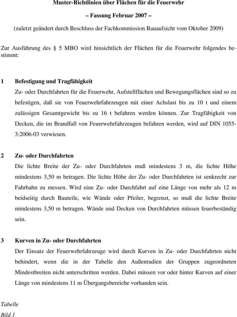 Muster Richtlinien Uber Flachen Fur Die Feuerwehr Fassung Februar Pdf Kostenfreier Download