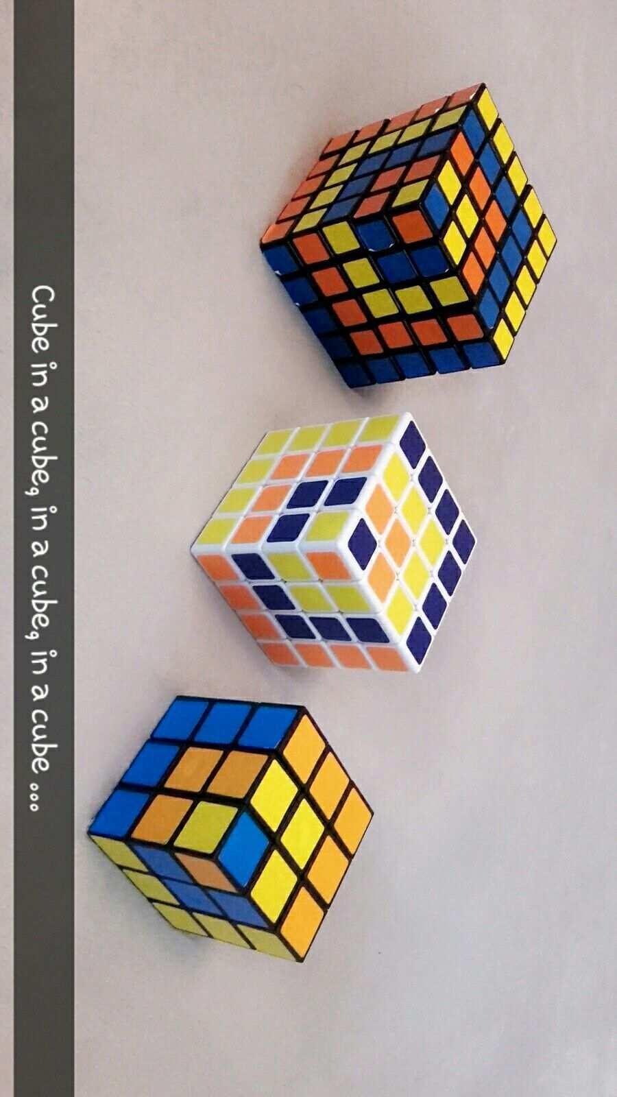 Zauberwurfel Rubiks Cube Coole Muster Mit 3 3 3 4 4 4 5 5 5 Cube In A Cube Rubix Cube Rubiks Cube Cube