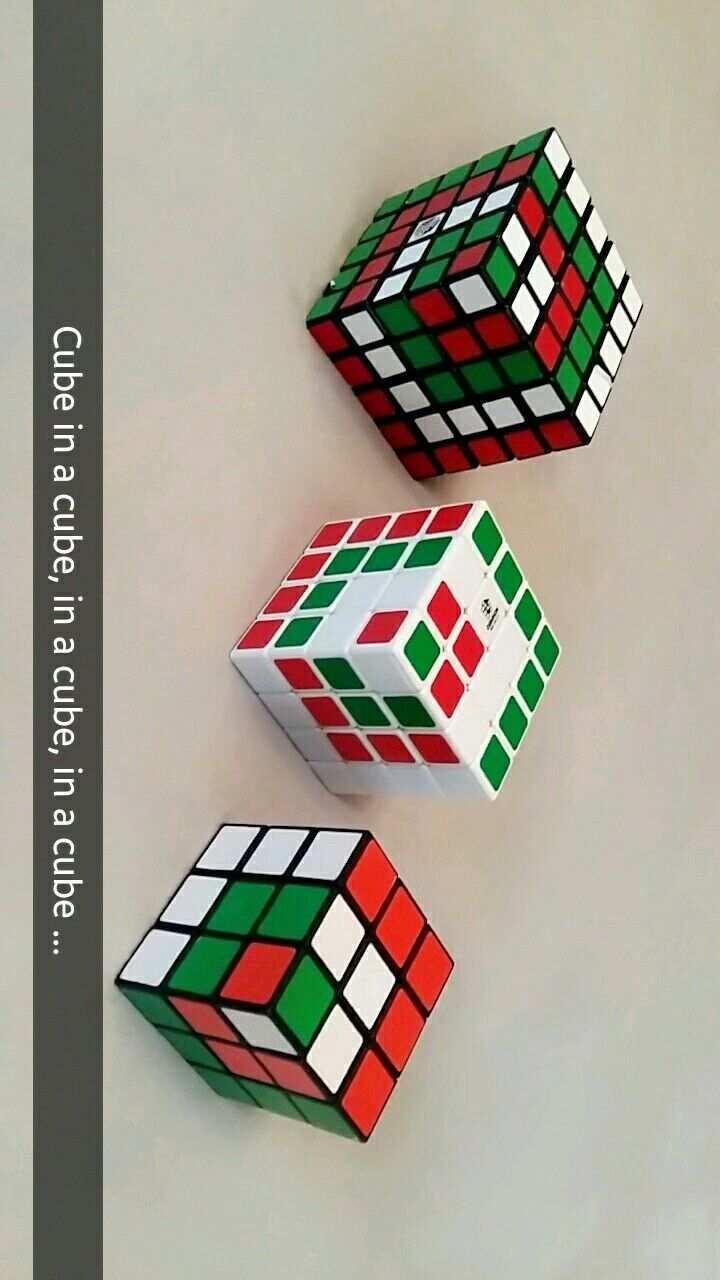 Zauberwurfel Rubiks Cube Coole Muster Mit 3 3 3 4 4 4 5 5 5 Cube In A Cube Cubo Rubik Rubik Cubos