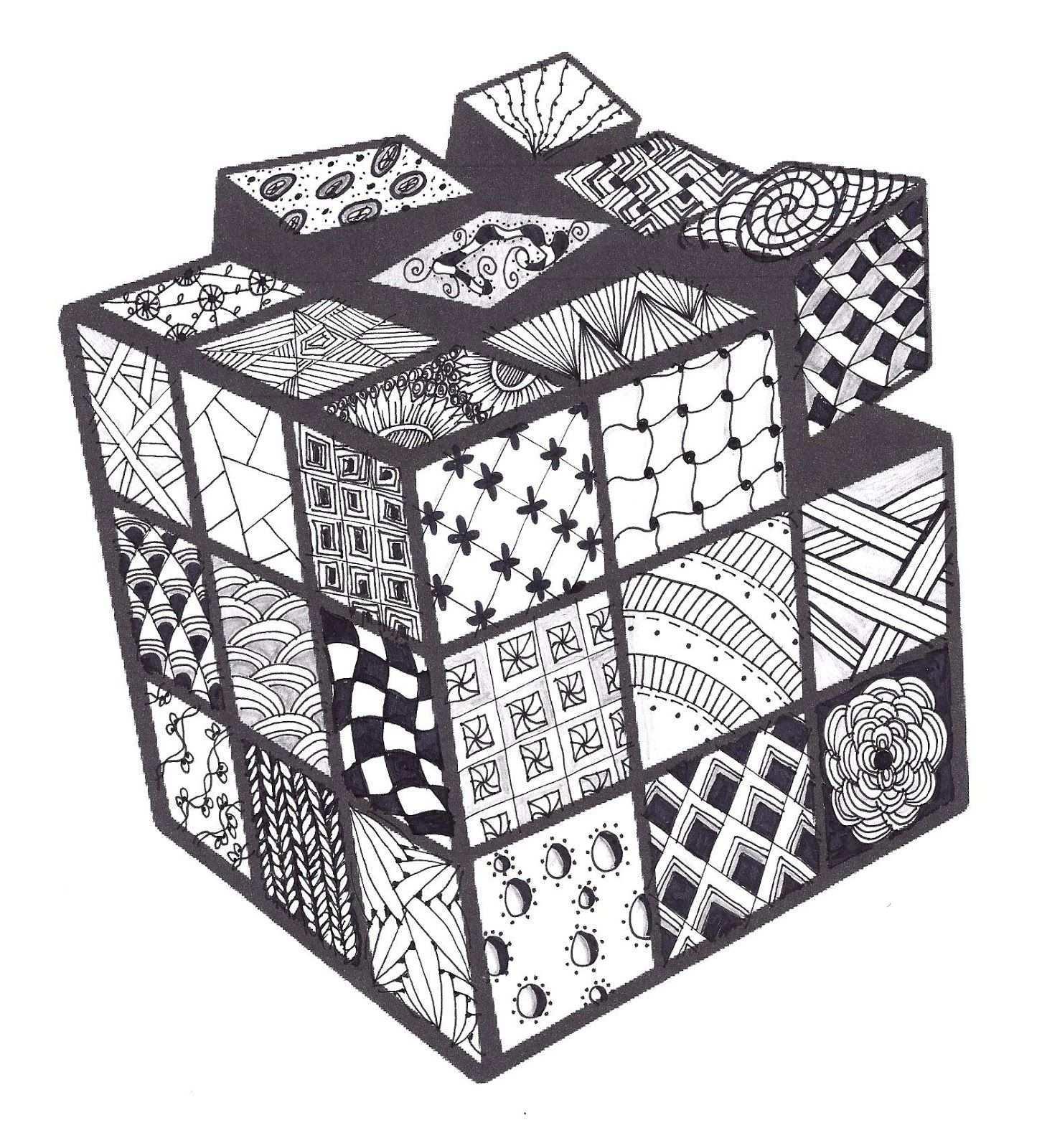 Zentangle Class Cubo Rubix Cubo Rubik Manos Dibujo A Lapiz