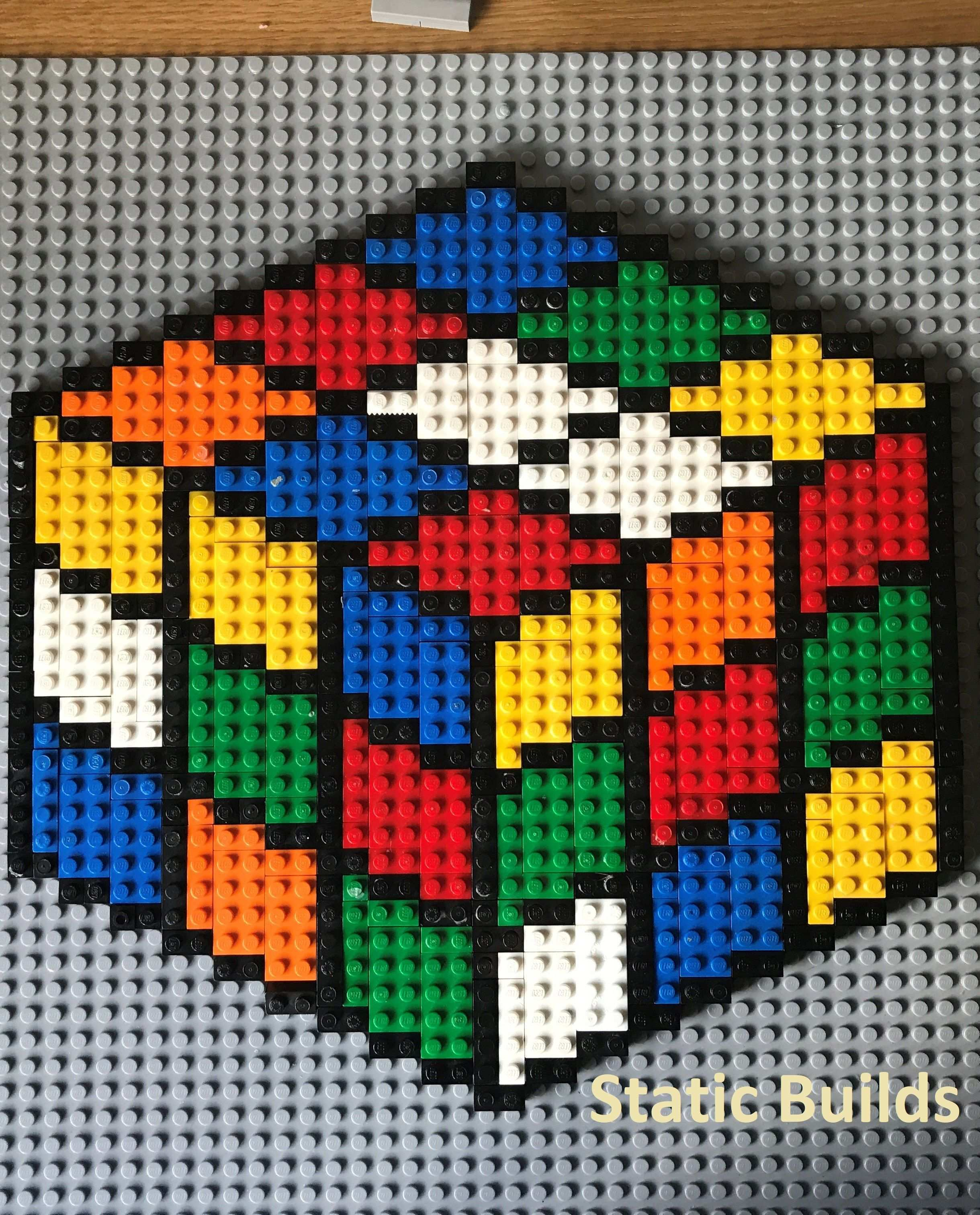 This Lego Rubik S Cube Mosaic Was An Awesome Lego Design I Created The Design Is Based Of A Puzzle I Have I Really Liked How The Colours Loo And How It