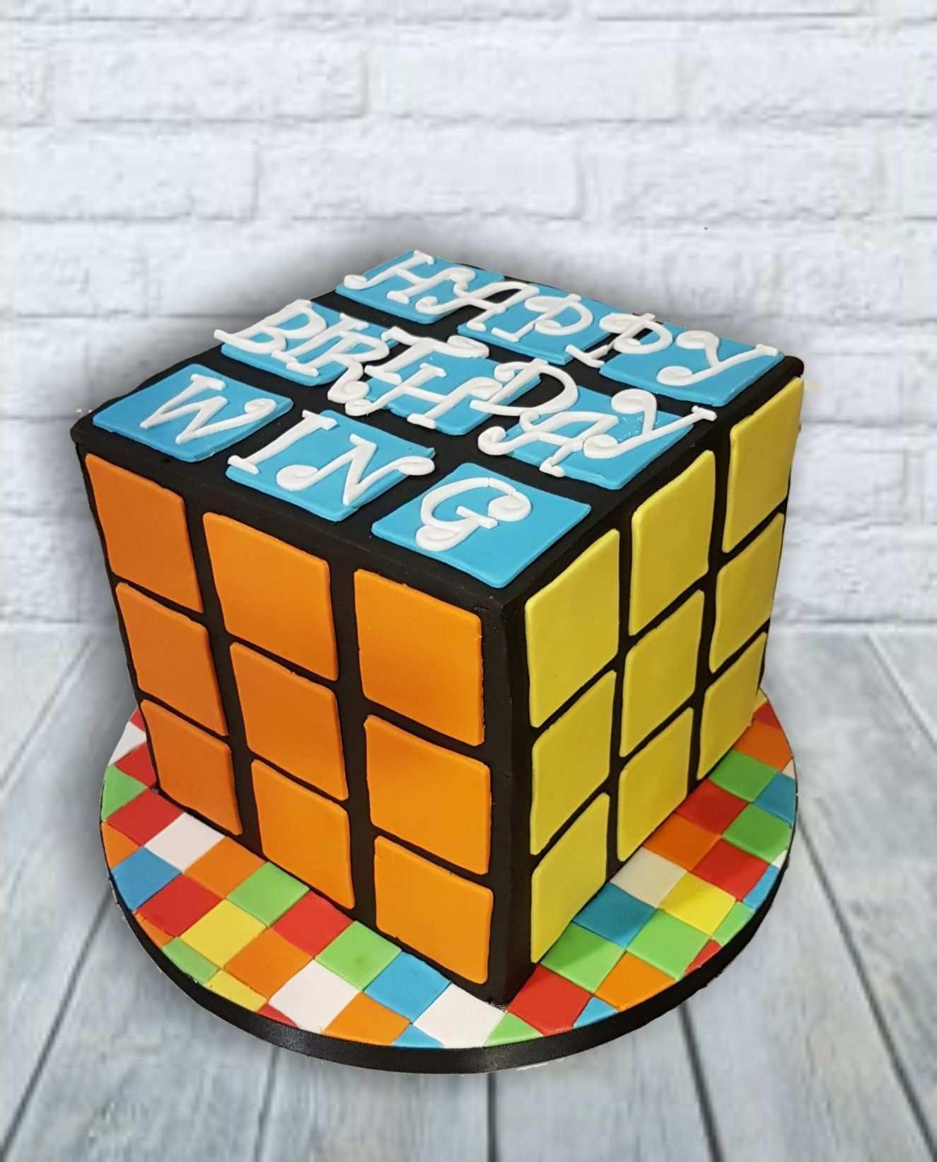 Rubix Cube Chocolate Cake Chocolate Caramel Ganache Tolle Kuchen Kuchen Torten