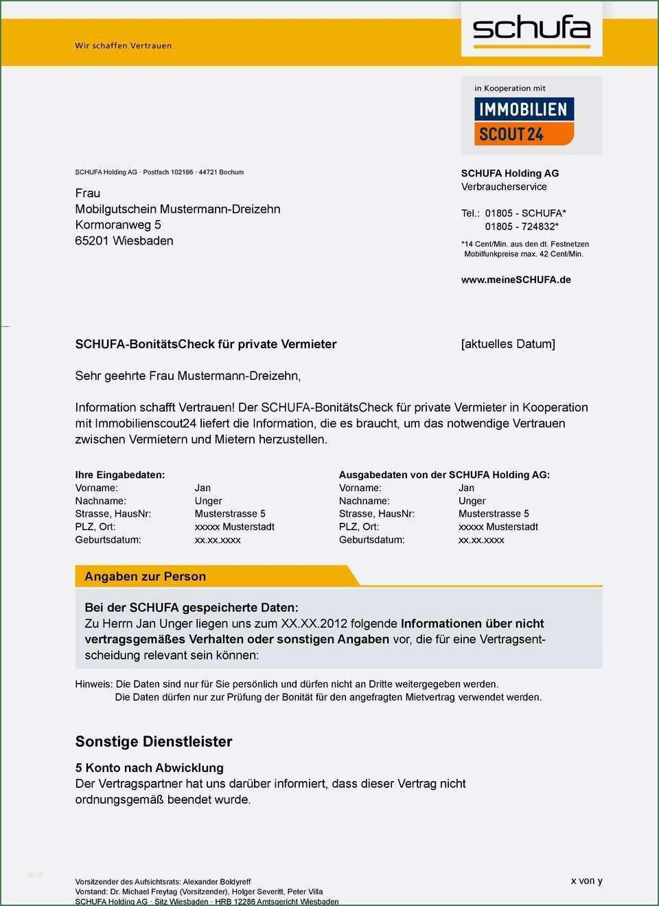 Schufa Auskunft Fur Mieter Vermietung Von Immobilien Fur Eigentumer Immobilien