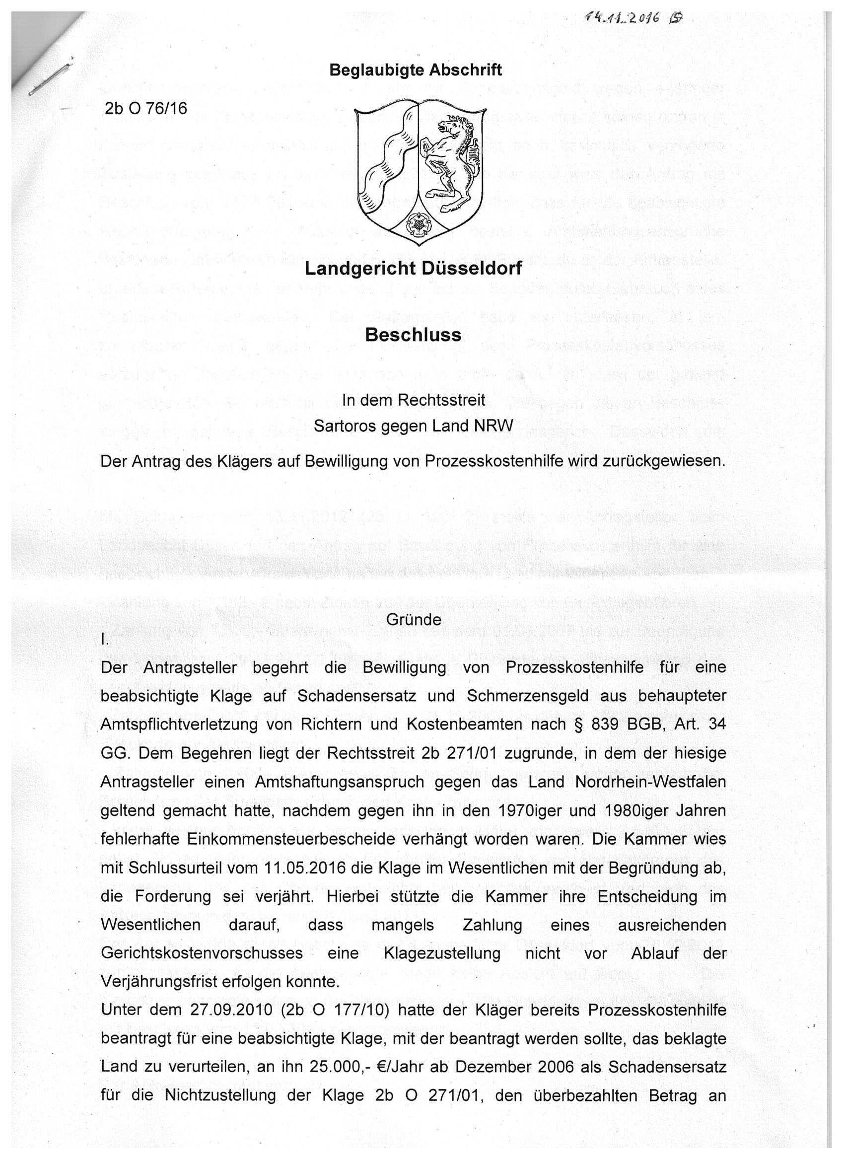 Landgericht Dusseldorf Dr Ing Th Sartoros