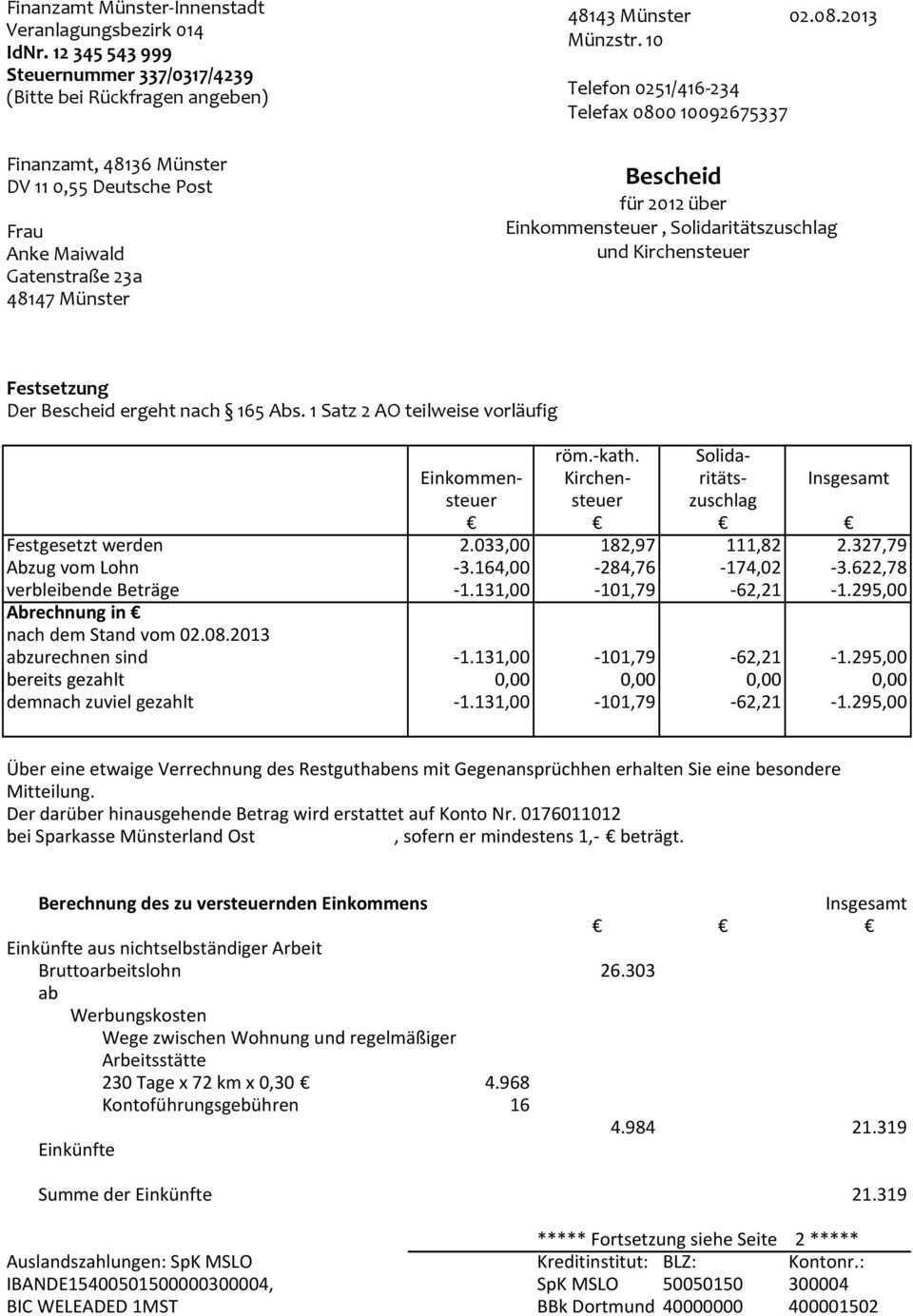 Mandantenstammblatt Steuerpflichtige Person Pdf Free Download