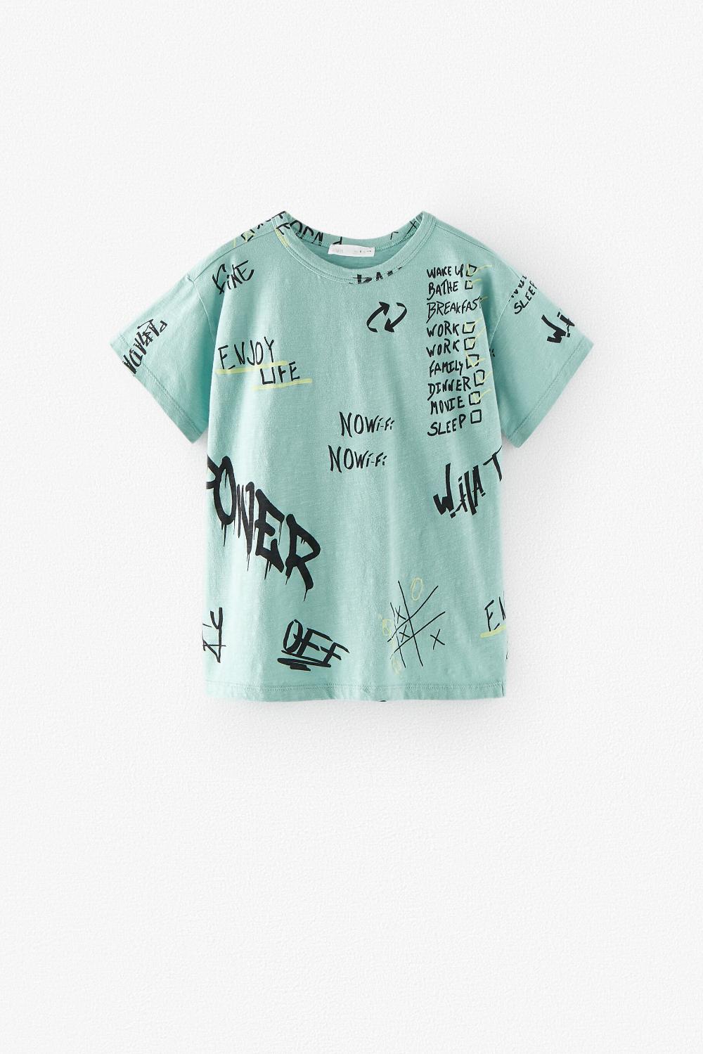 Graffiti Text T Shirt Zara United States In 2020 Graffiti Text