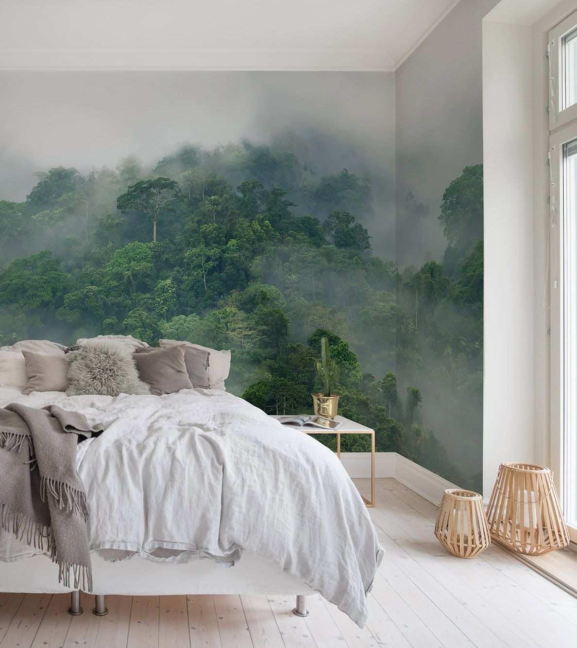 Misty Forest Tapete Schlafzimmer Schlafzimmer Tapete Tapete Wohnzimmer