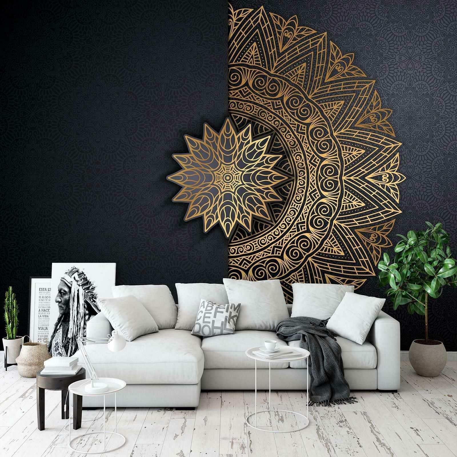 Brilliante Fototapete Tapete Wandbild 244680fw Mandala Orient Gold Abstraktion Eur 16 9 Tapeten Wohnzimmer Modern Tapeten Wohnzimmer Dekor Fur Kleine Raume