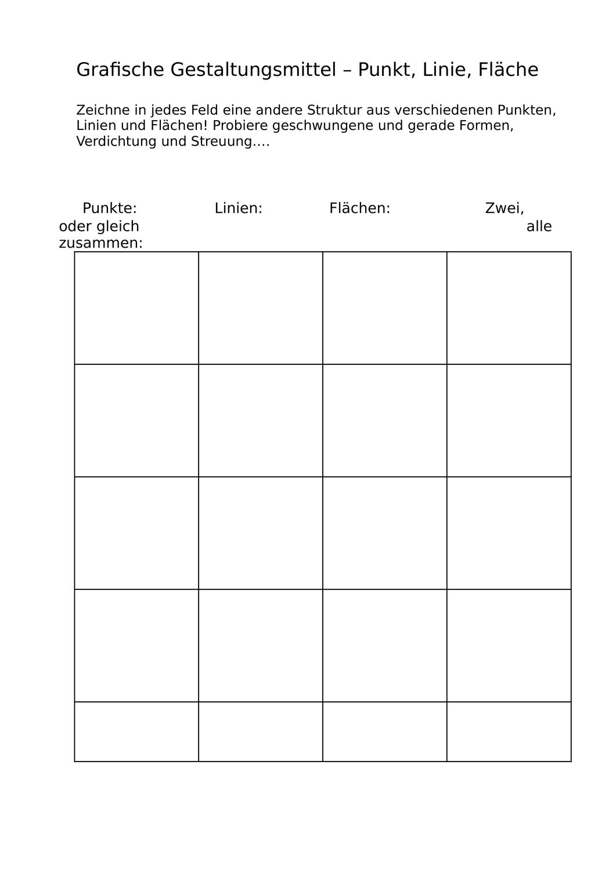 Arbeitsblatt Grafische Strukturen Unterrichtsmaterial Im Fach Kunst Kunstunterricht Kunst Grundschule Unterrichtsmaterial