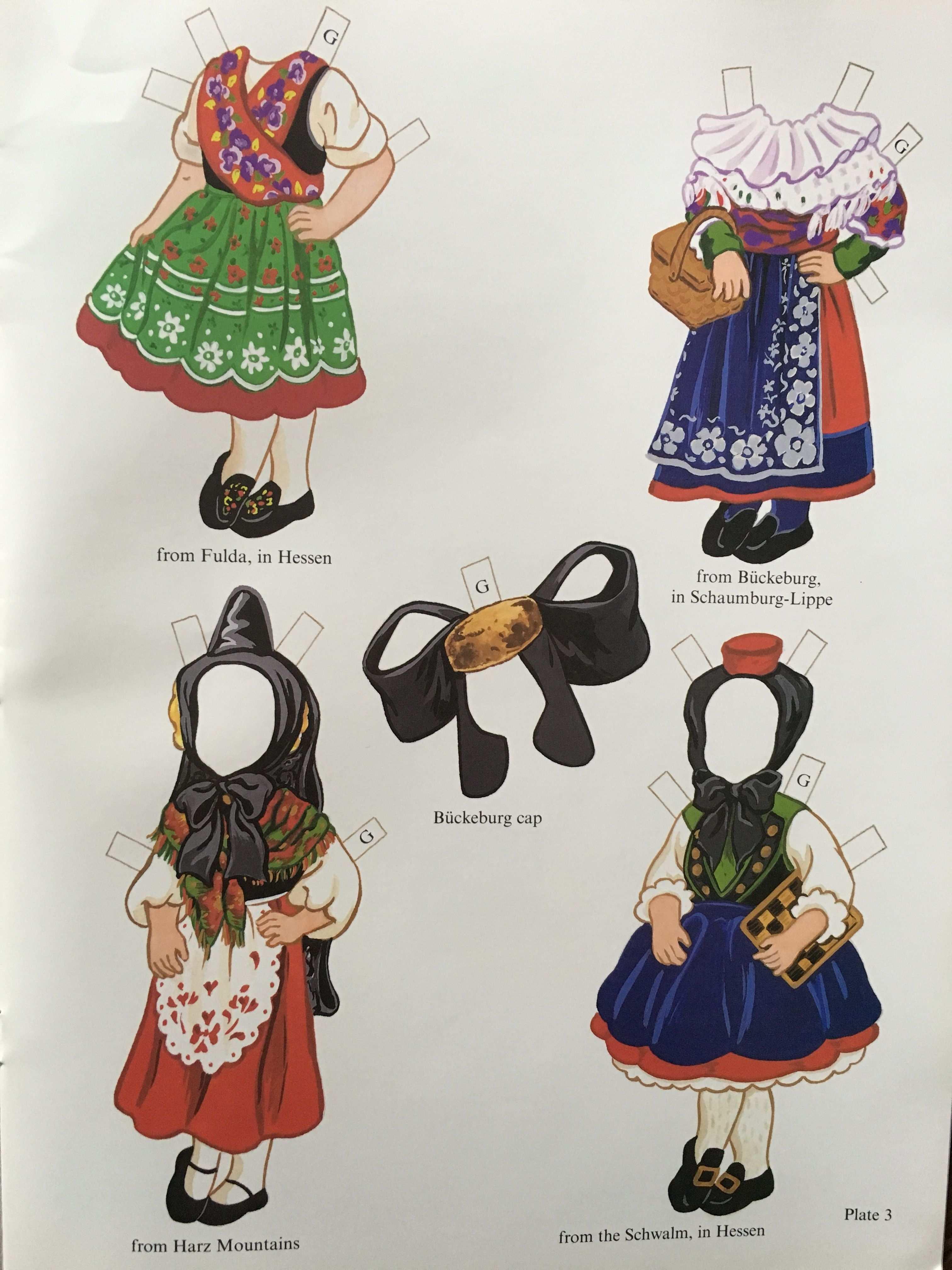 German Girl And Boy Paper Dolls Kathy Allert Dover 3 Of 6