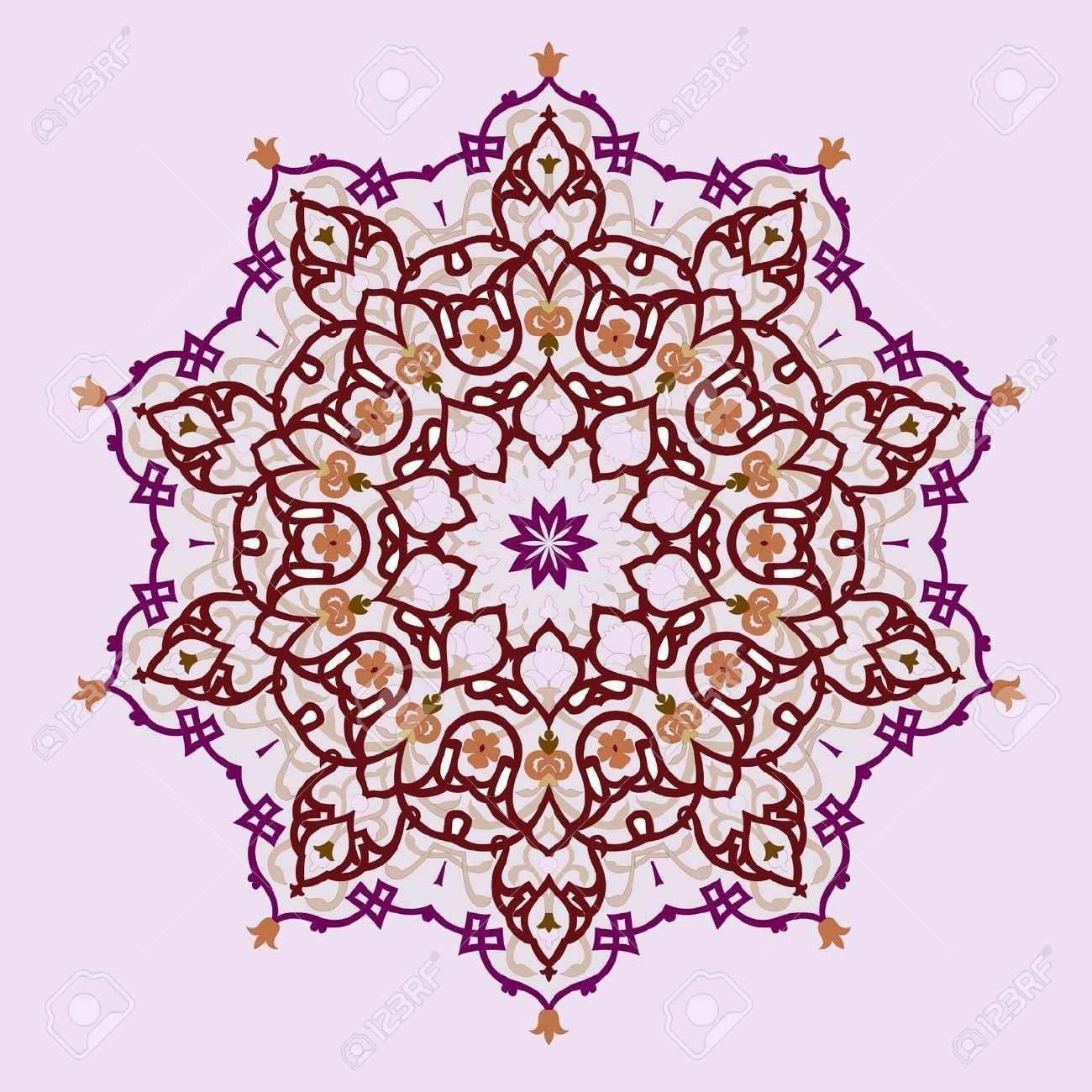 Vektor Der Traditionellen Persischen Arabic Turkisch Islamische Muster Islamic Pattern Persian Motifs Pattern