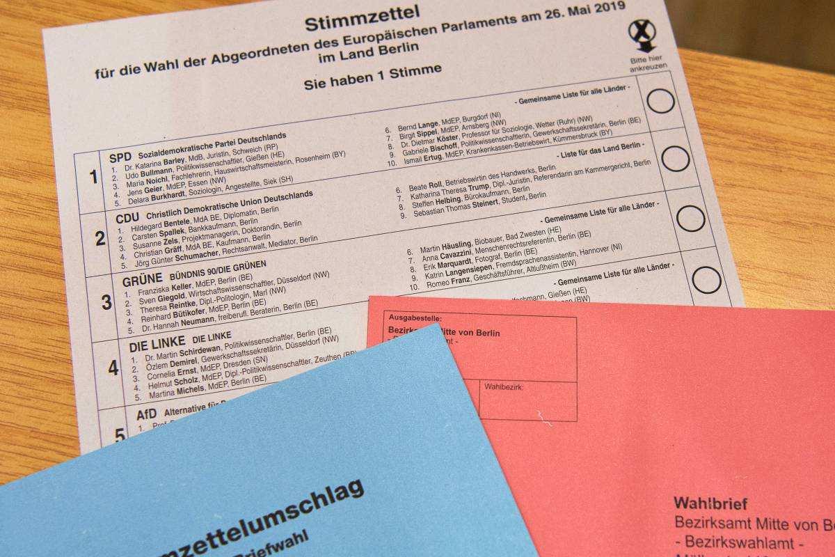 Europawahl 2019 Muster Fur Stimmzettel So Geht Das Ausfullen Waz De