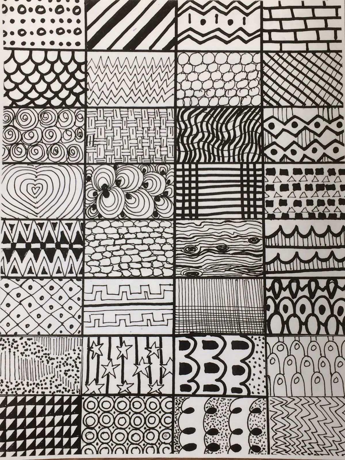Linien Und Muster Fraulein French Fry Makes Art Kindergarten In 2020 Geometrisches Musterdesign Musterkunst Zeichnung Erstellen