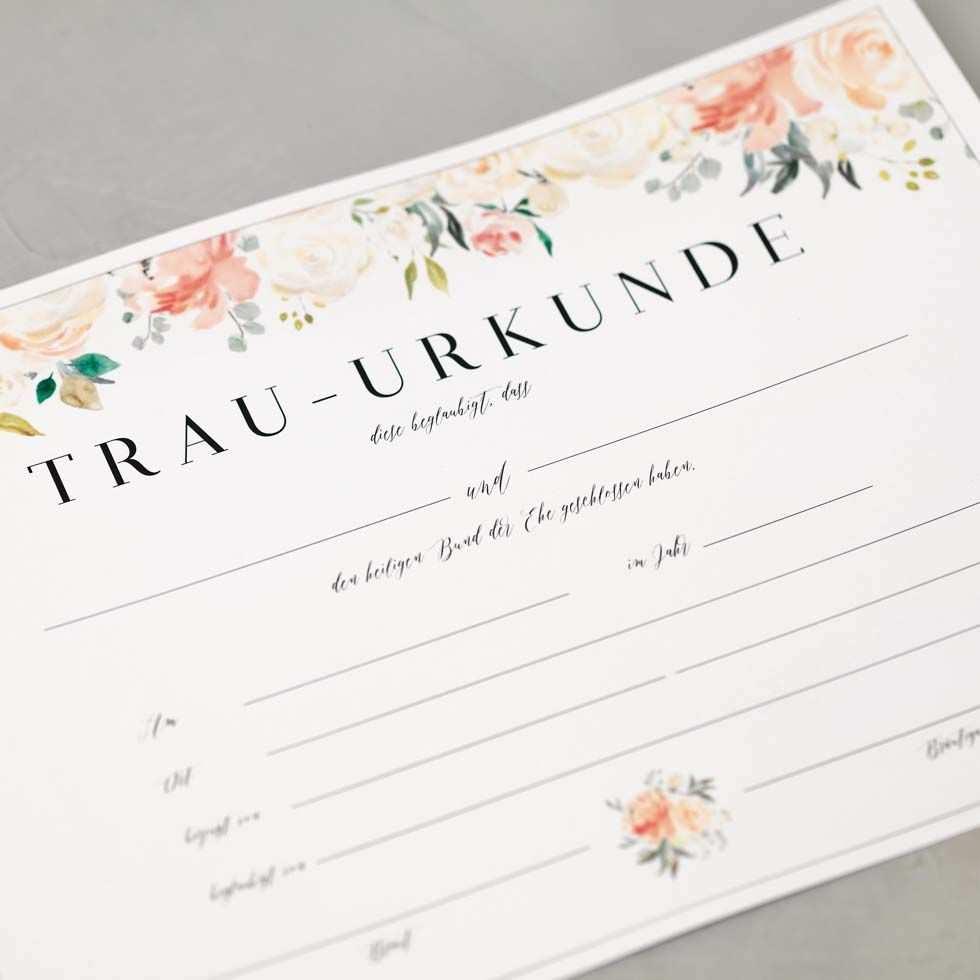 Wir Haben Euch Eine Vorlage Fur Eine Trau Urkunde Erstellt Die Ihr Bei Eurer Freien Trauung Verwenden Und Ganz Offiziell Hochzeitseinladung Urkunde Trauung