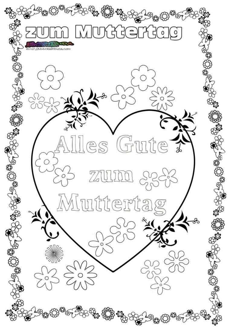 Muttertag Ausmalbild Malvorlage Gruss Mit Herz Babyduda Malbuch Muttertag Ausmalbilder Basteln Ausmalbild