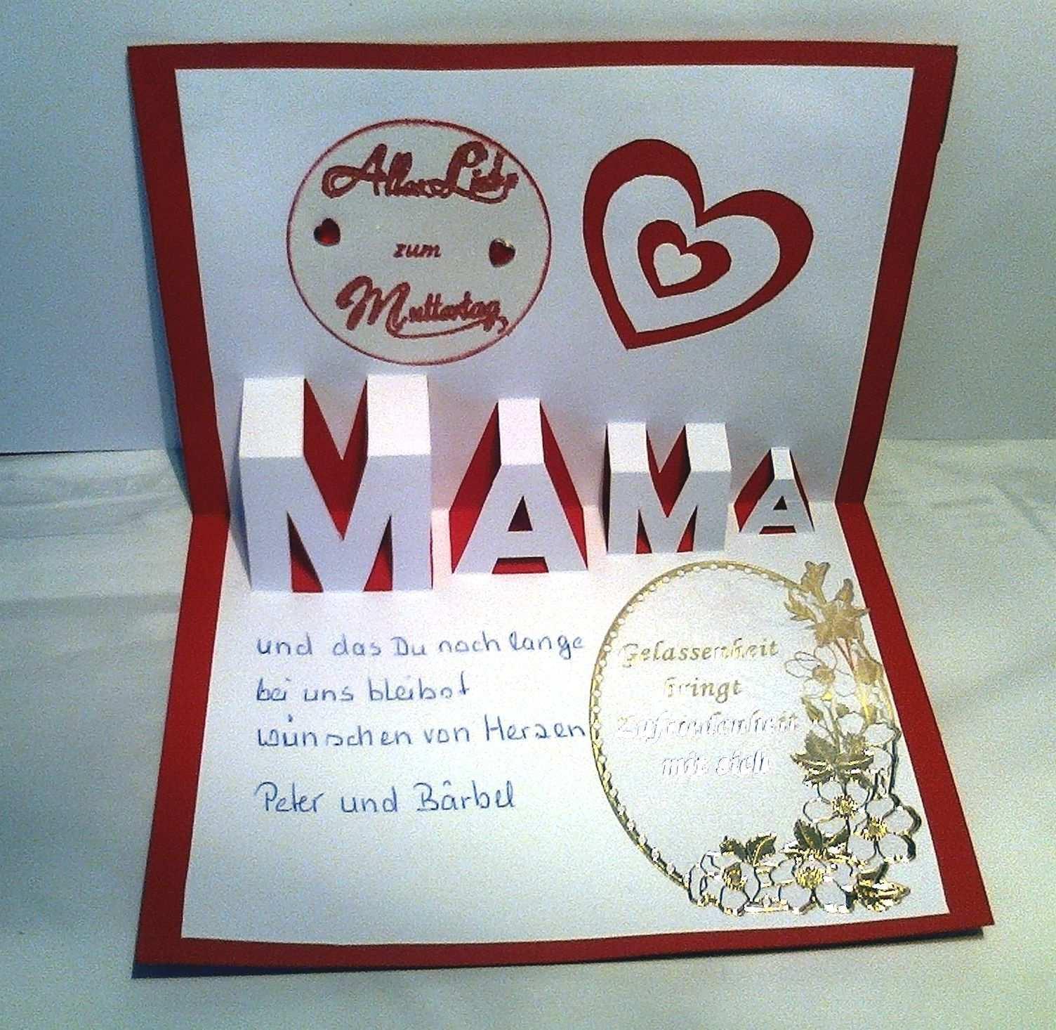 Popup Karte Muttertag Innen Muttertag Geschenke Basteln Muttertag Basteln Muttertagskarte Basteln