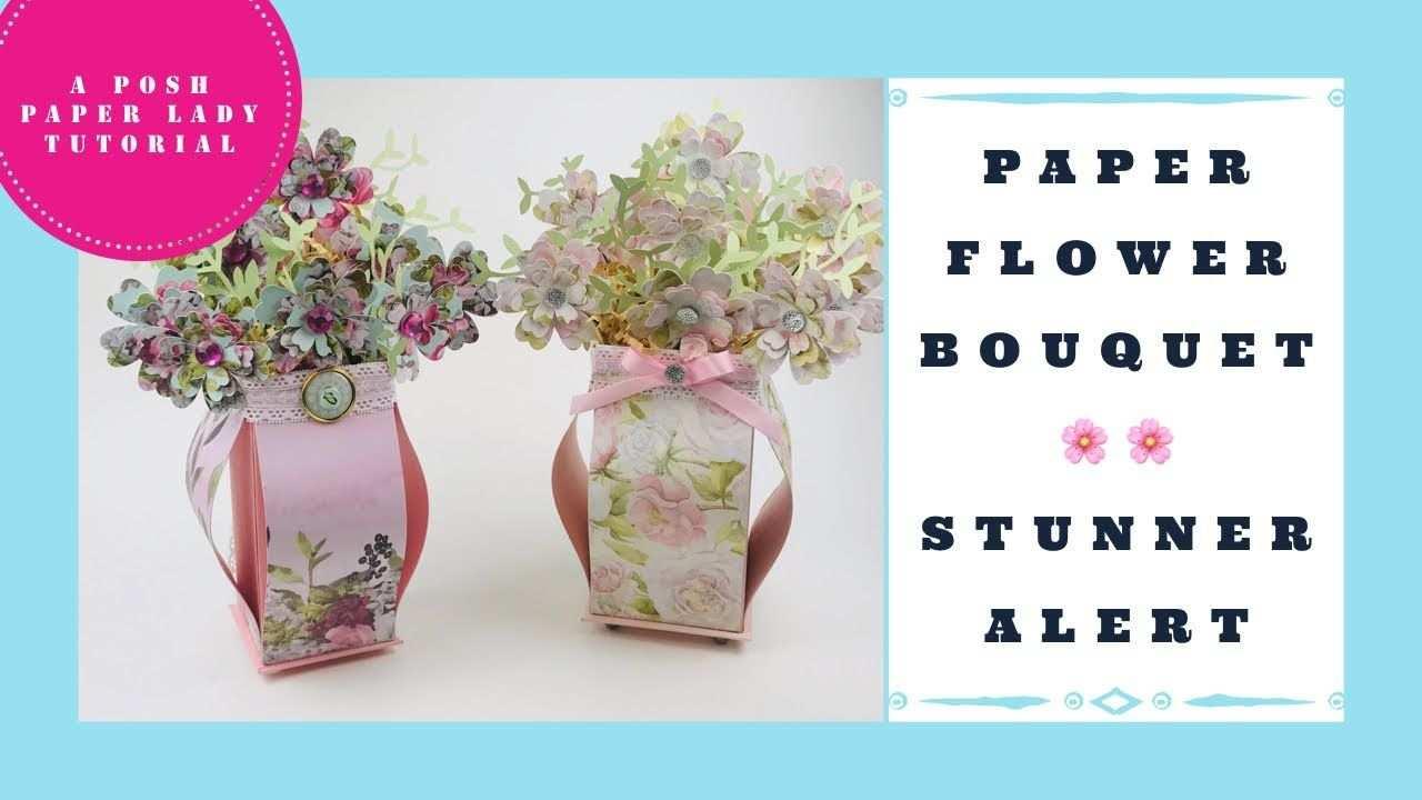 Paper Flower Bouquet Tutorial Stunner Paper Flower Bouquet Handmade Flowers Paper Bouquet Tutorial