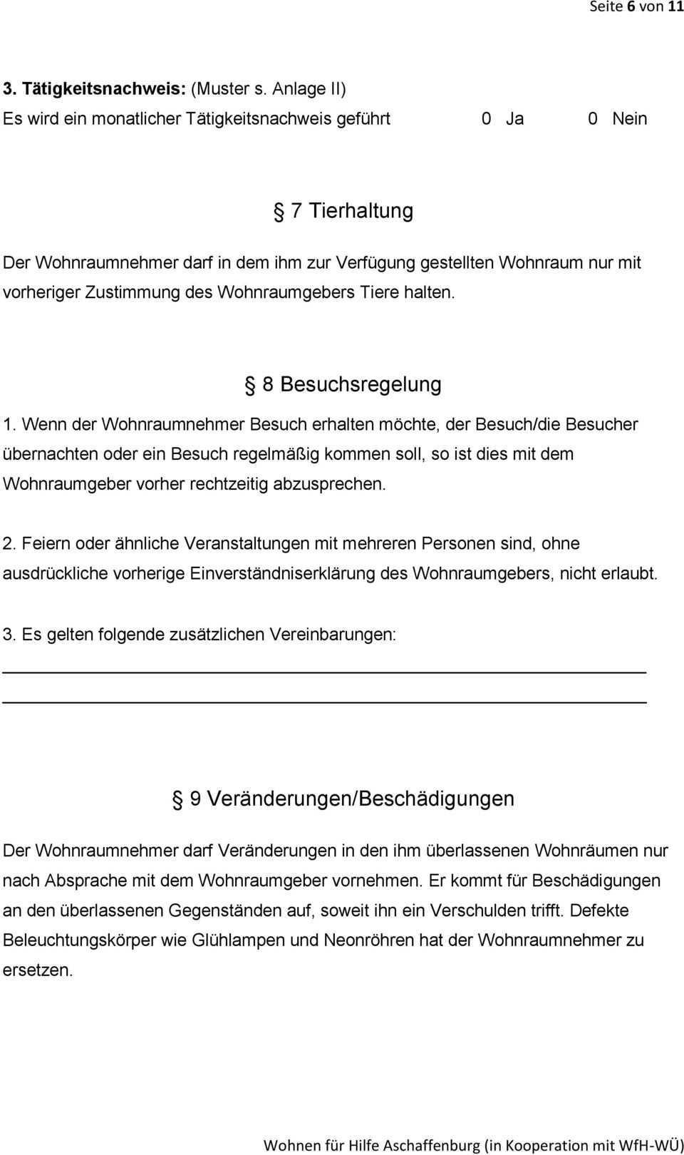 Wohnraumuberlassungsvertrag Pdf Kostenfreier Download