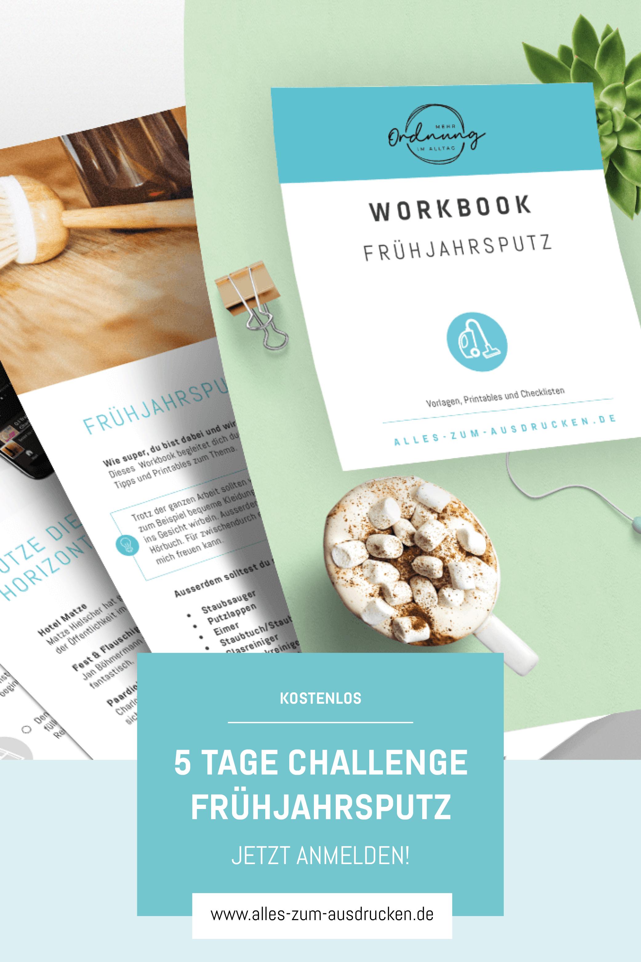 Fruhjahrsputz Challenge In 2020 Fruhjahrsputz Stoff Buchstaben Kostenlose Vorlagen