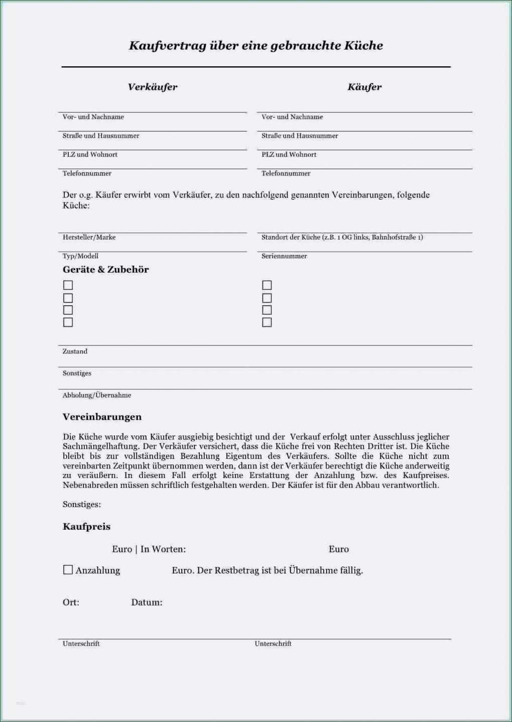 Vorlage Kaufvertrag Kuche Nachmieter Kaufvertrag Kuche Vorlage Word Kaufvertrag Auto Privat
