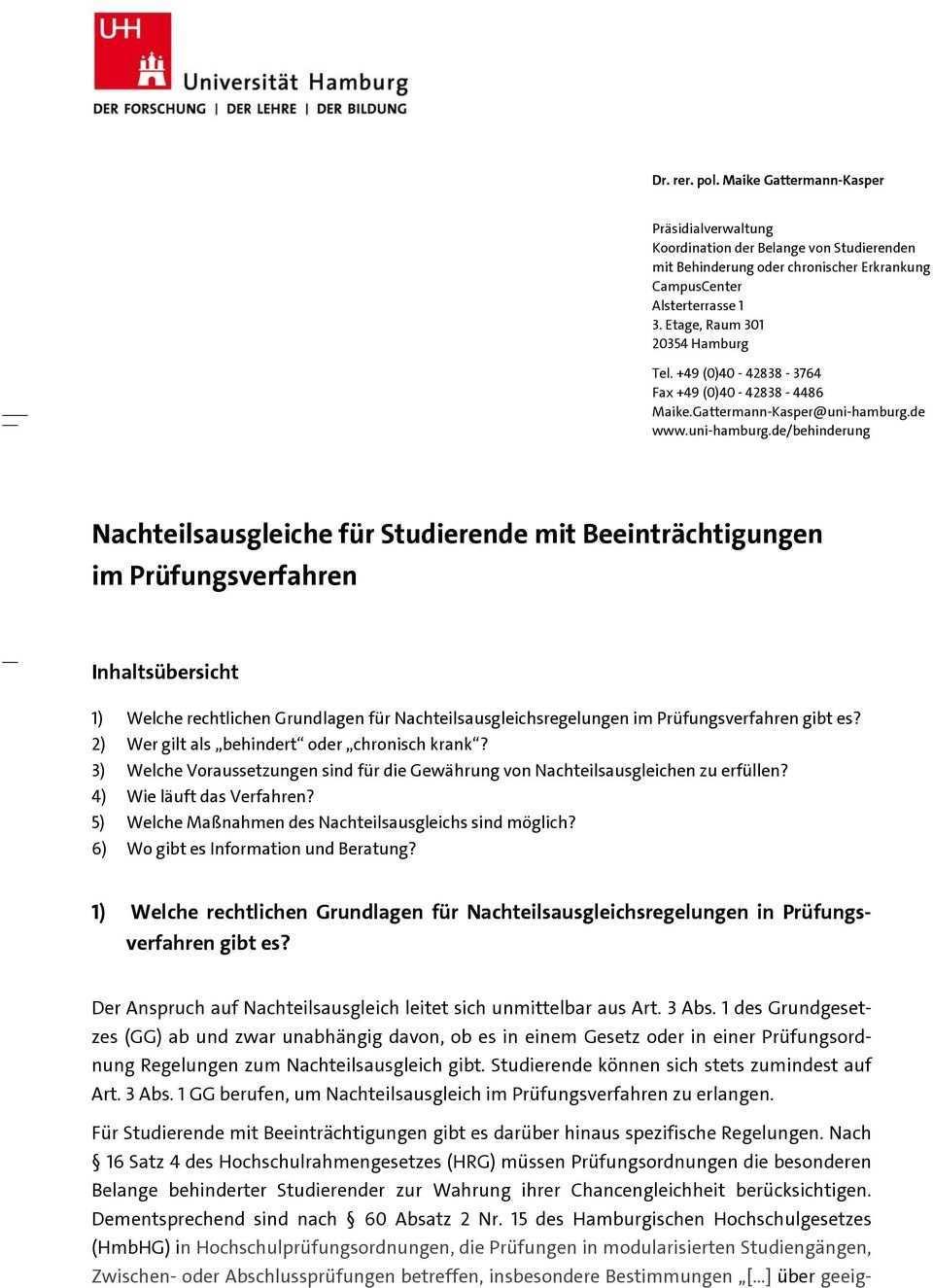 Nachteilsausgleiche Fur Studierende Mit Beeintrachtigungen Im Prufungsverfahren Pdf Free Download