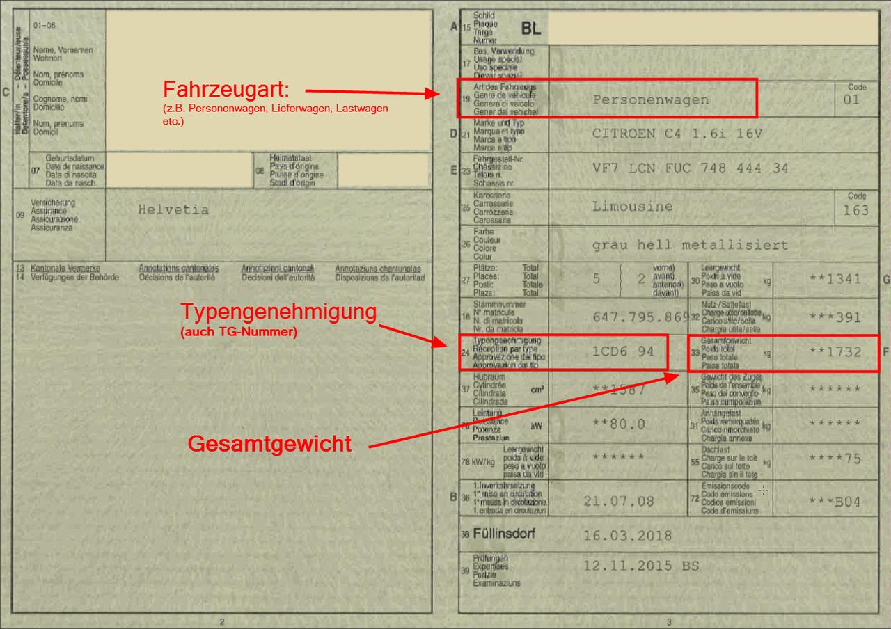 Berechnung Der Motorfahrzeugsteuern Baselland Ch