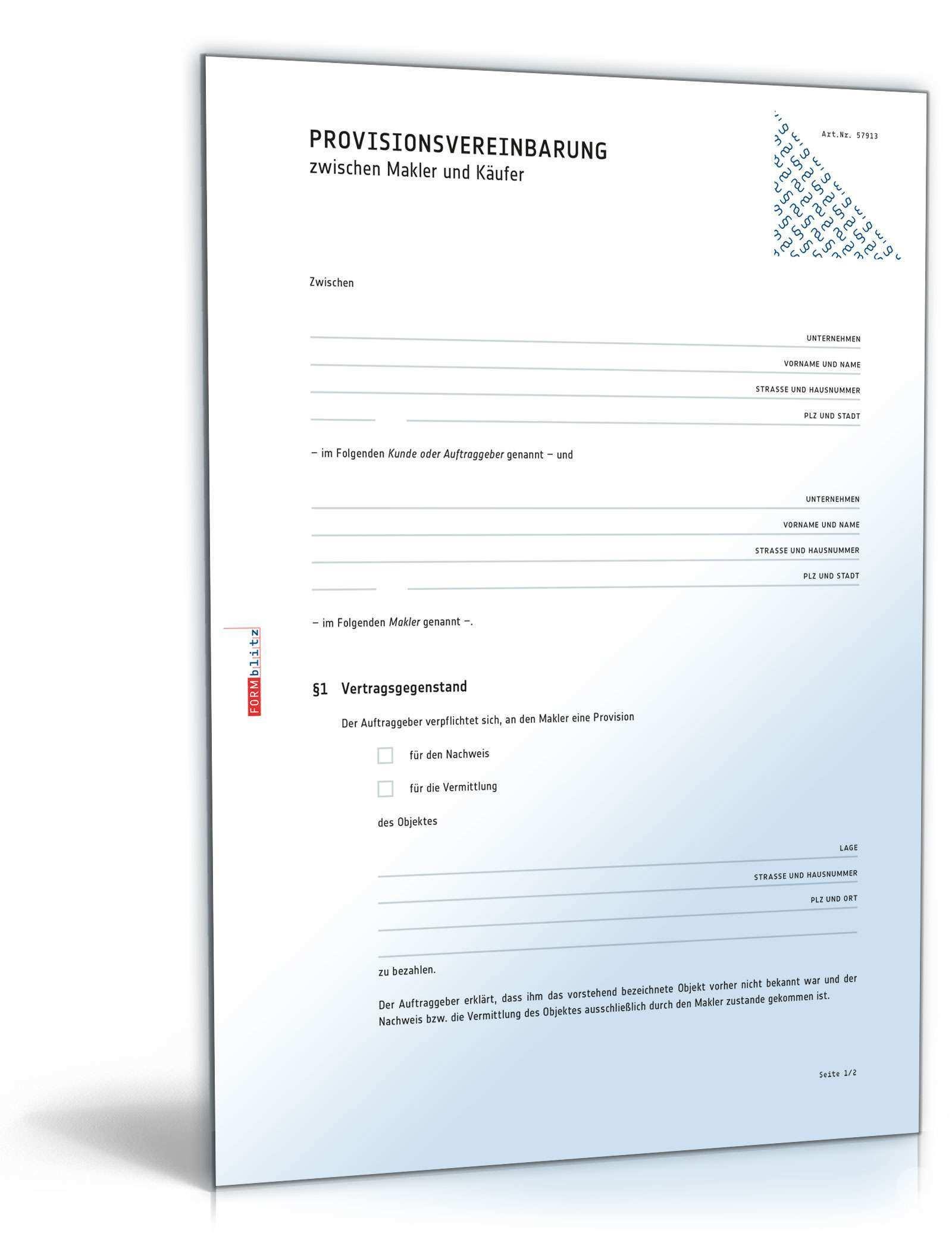 Nachweisbestatigung Makler Und Kaufer Vorlage Zum Download
