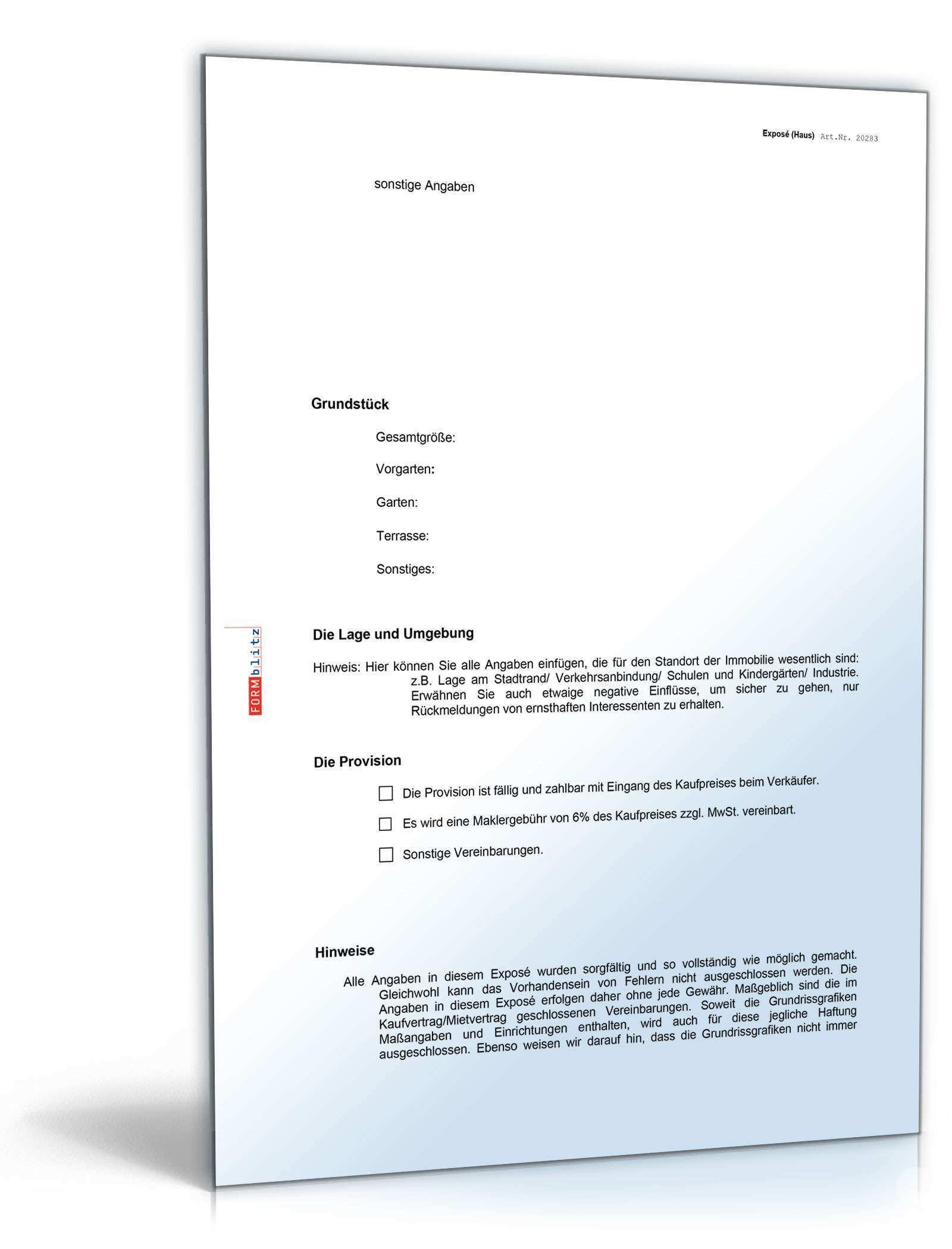 Makler Expose Haus Vorlage Zum Download