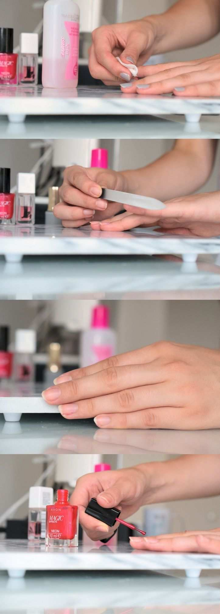 So You Do A Manicure At Home Diy In 5 Steps To Beautiful Nage Nail Tutorials Manikure Zu Hause Nagellackentferner Nagellack