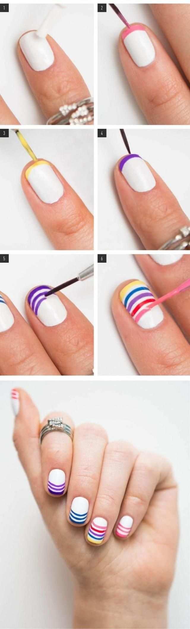 Fingernagel Design Und Muster 29 Ideen Zu Nagel Selber Machen Einfach In 2020 Regenbogen Nagel Naildesign Nagel Selber Machen