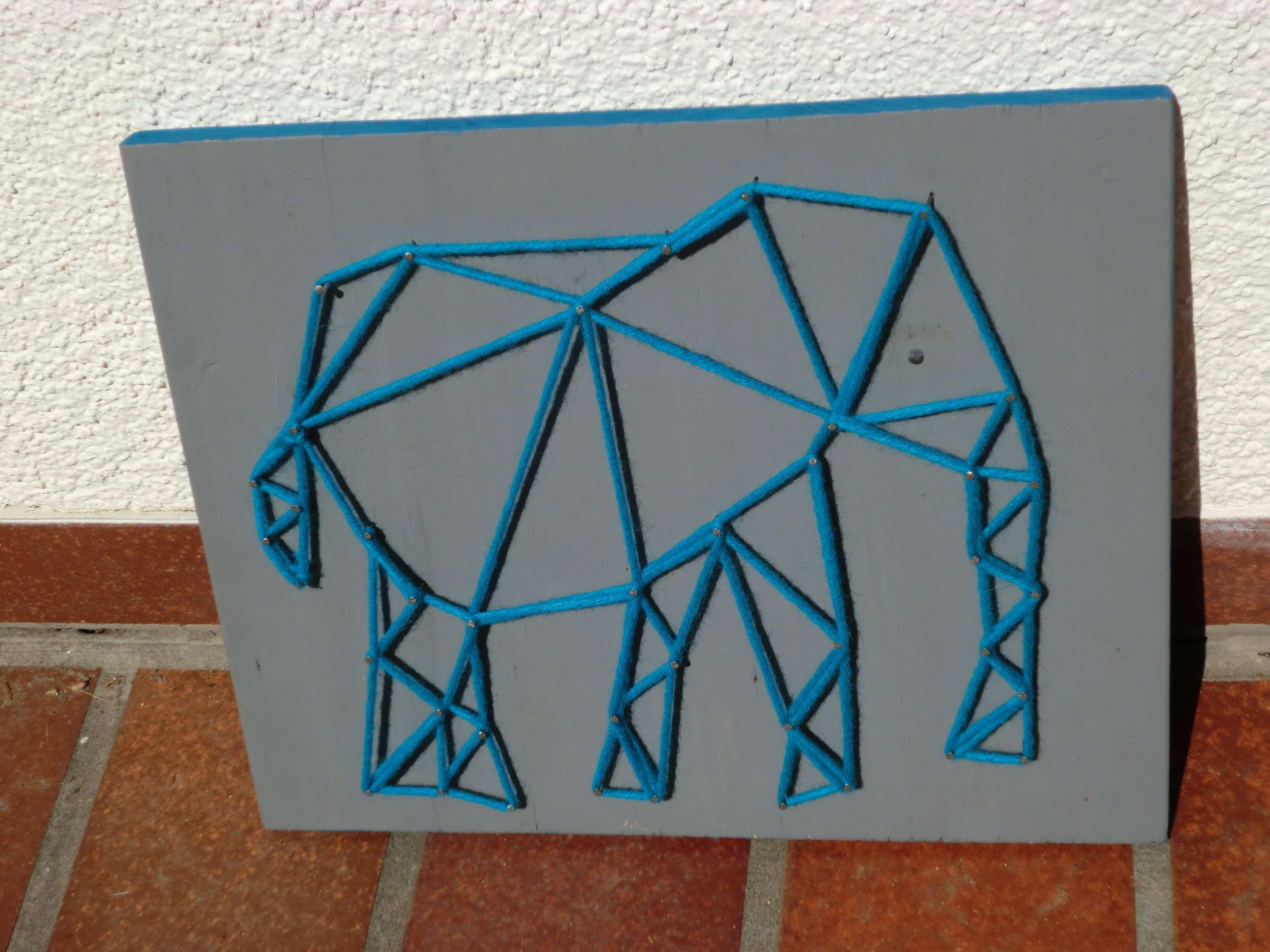 Elefant Nagelbild Fadenbild Basteln Und Selbermachen Kreativ Bastelideen