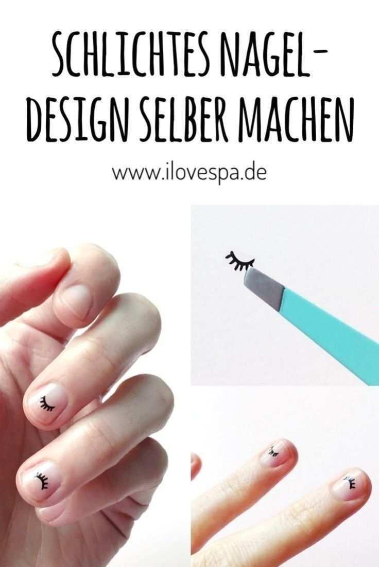 Diy Nail Design Simple A Simple Manicure For Short Nails Do It Yourself In 2020 Nageldesign Diy Manikure Ideen Nageldesign Schlicht