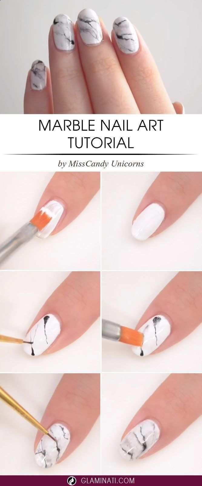 Diy Marble Nail Art Design Tutorial Step By Step Marble Nails Nailart Nails Nailart Nails Marmor Nagel Tutorial Nagel Selbstgemacht Susse Nageldesigns