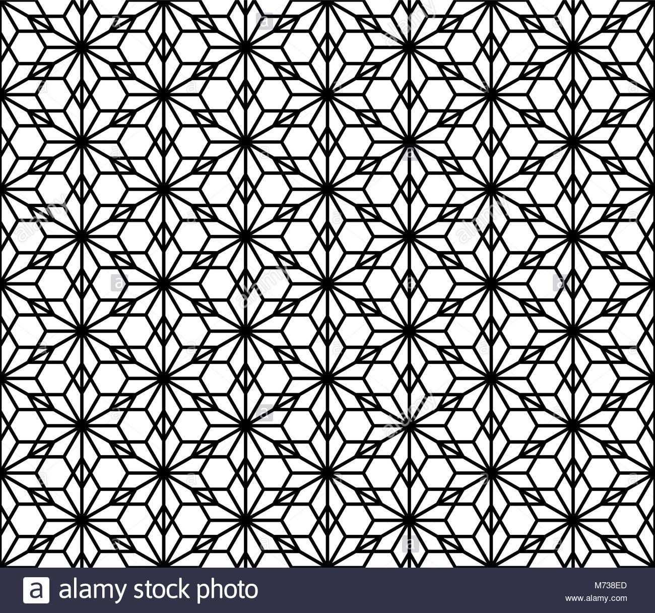 Nahtlose Traditionelle Japanische Ornament Kumiko Stock Vektor Geometrisches Musterdesign Geometrisches Mandala Tattoo Geometrie Tattoo