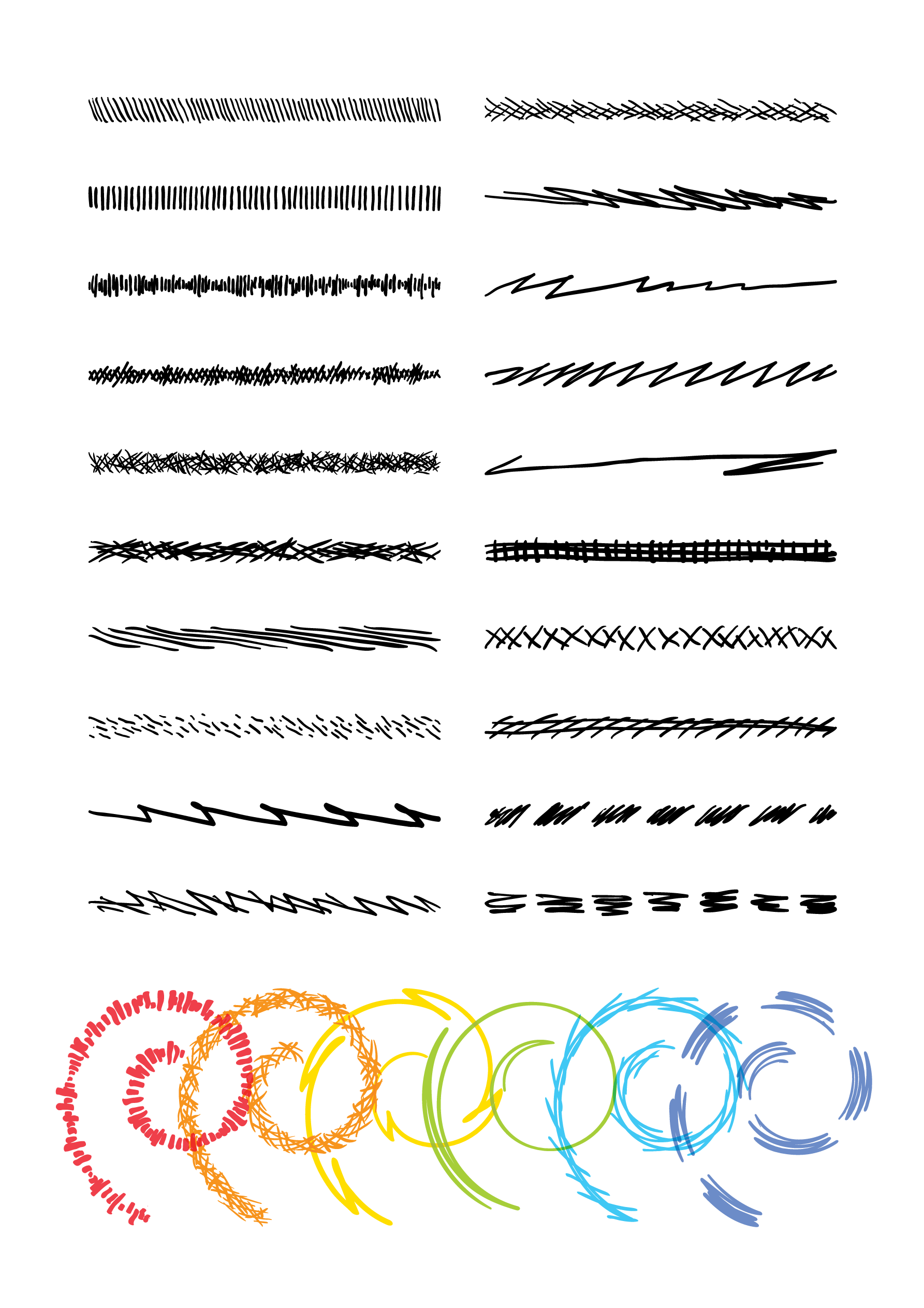 100 Adobe Illustrator Pinsel Fur Skizzenartige Strichzeichnungen Strichzeichnung Illustrator Vektorgrafik