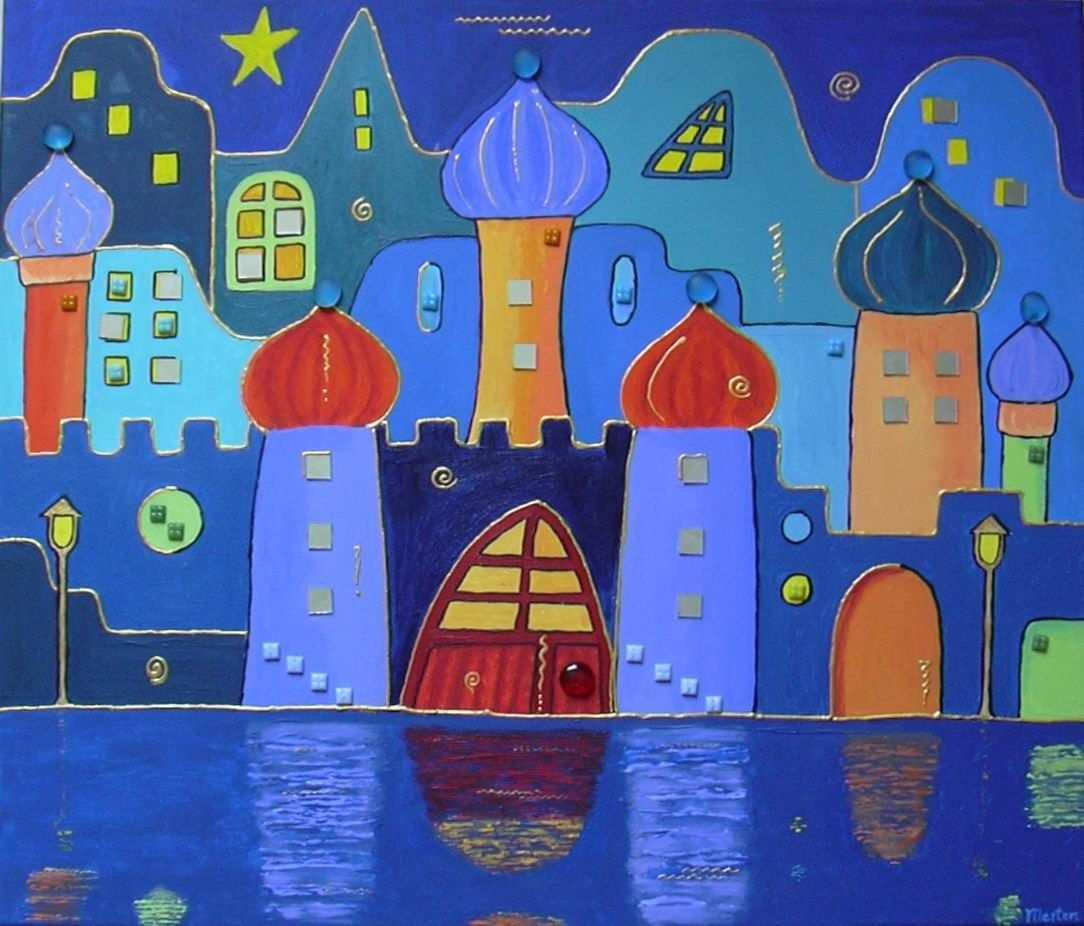 Architekturmalerei Hundertwasser Hundertwasser Bilder Kunst Grundschule