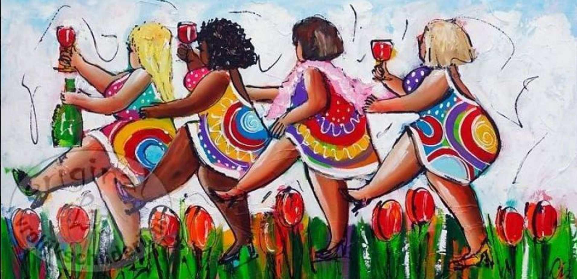 Von Damen Naive Malerei Bilder Acrylbilder