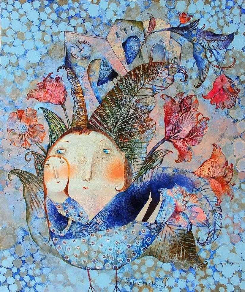 Anna Silivonchik Belarusian Illustration Naive Malerei Kunst